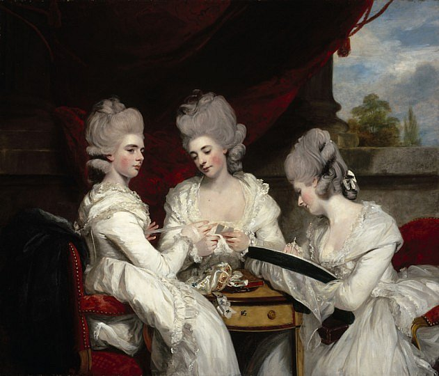 'The Ladies Waldegrave', Sir Joshua Reynolds, 1780. National Gallery of Scotland NG 2171. Oil on canvas.